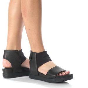 Eileen Fisher Spree Leather Mesh Sport Sandals.